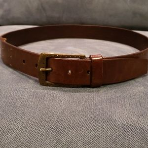 Accessories - Brown belt with stitching